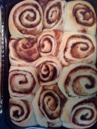 baked unglazed cinn rolls