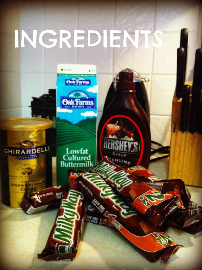 Milky Way cake ingredients